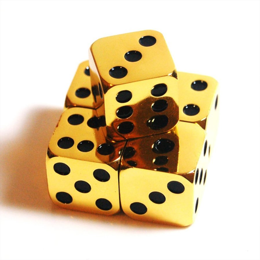 highly polished dice