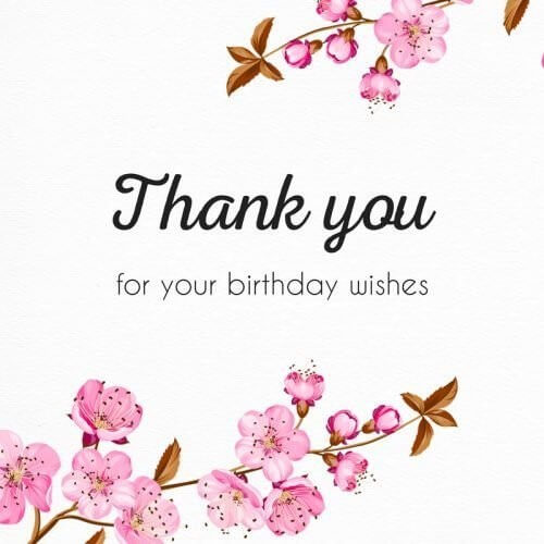 Birthday Thank You Images