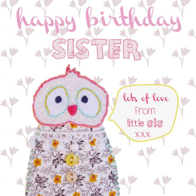 Happy Birthday Sister from Sister