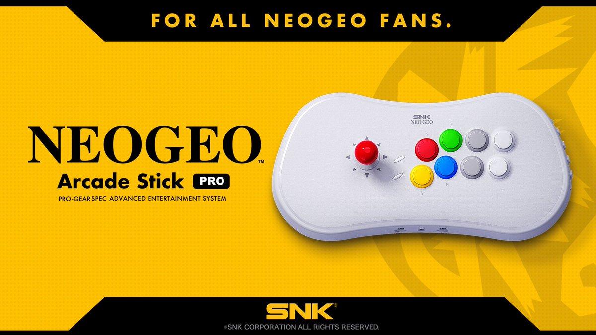 SNK Accounces their NEOGEO Arcade Stick Pro!