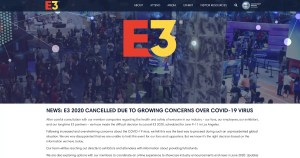 E3 2020 Cancelled Due to Novel Coronavirus Concerns