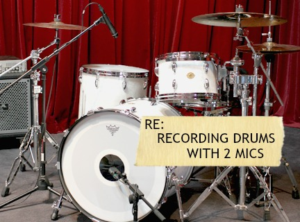 Recording the drums with two mics