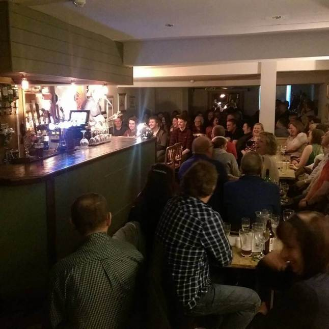 Kirton-in-Lindsey Comedy Club Crowd at The George