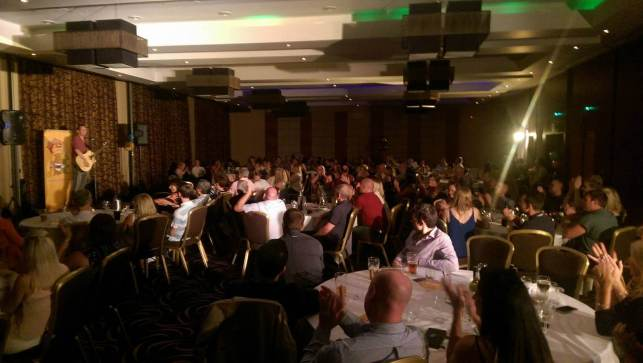 Brigg Comedy Club - Johnny and the audience