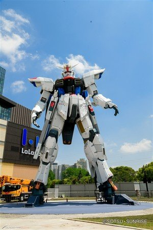 Life-Size Freedom Gundam Statue in Shanghai Opens for Public Viewing