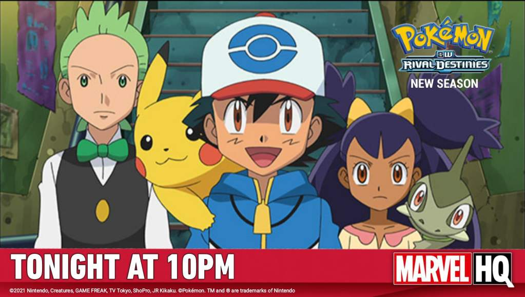 Pokemon Black and White Rival Destinies is Scheduled to be Premiered on Marvel HQ India on September 18 , 2021 - ANIME NEWS INDIA