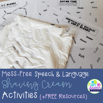 Mess-Free Speech and Language Shaving Cream Activities (+FREE Resources)
