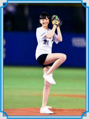 松井愛莉 始球式
