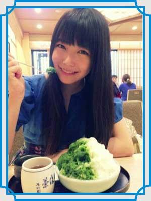 白間美瑠 食べ方