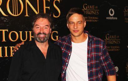 Los actores de «Juego de Tronos» Tom Wlaschiha e Ian Beattie en Barcelona