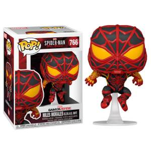 funko pop marvel spiderman miles morales strike suit