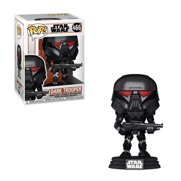 funko pop star wars the mandalorian dark trooper 466