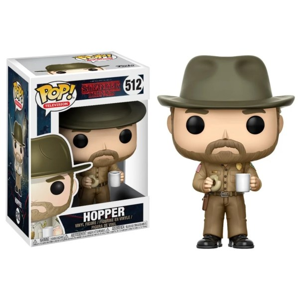 funko pop television stranger things hopper with hat