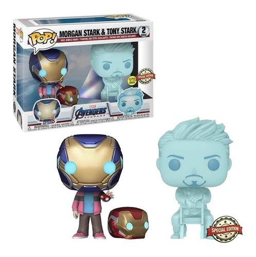 Funko Pop Marvel Avengers End Game Morgan & Tony Stark 2 pack
