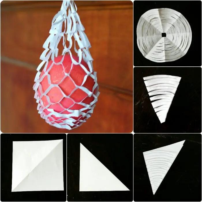 bastelanleitung einfaches osternest aus papier basteln anleitungen do it yourself. Black Bedroom Furniture Sets. Home Design Ideas