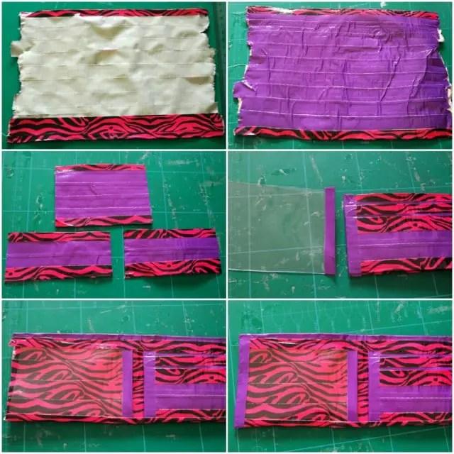 Anleitung Portemonnaie aus Gewebeklebeband basteln