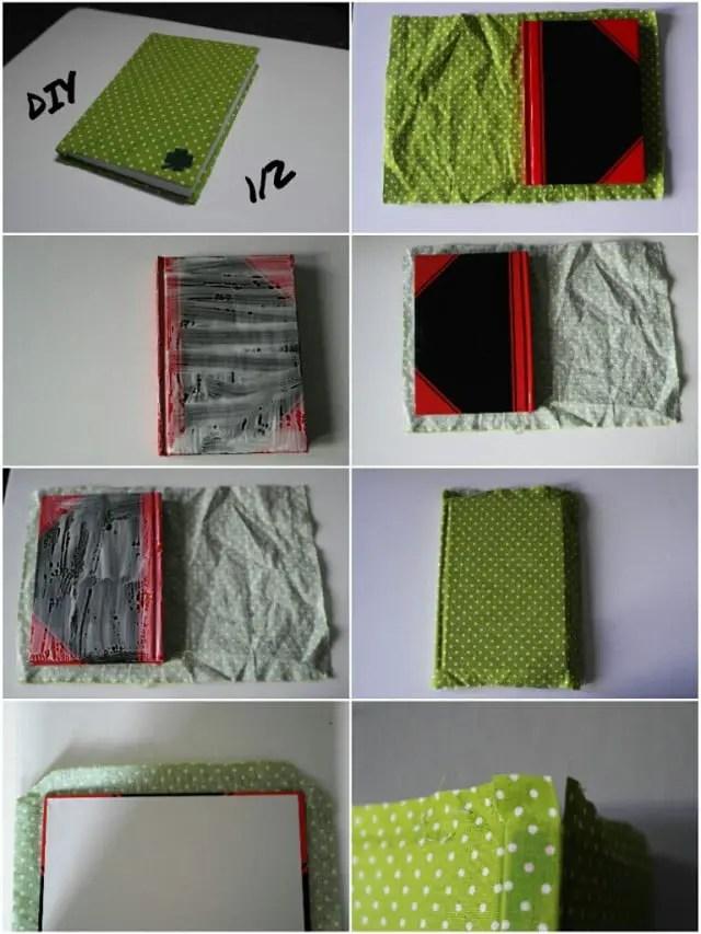 kalender und notizb cher mit stoffresten beziehen anleitungen do it yourself b cher mit. Black Bedroom Furniture Sets. Home Design Ideas