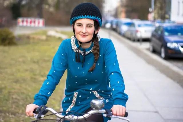 Fahrradhelm mit Reflektorwolle