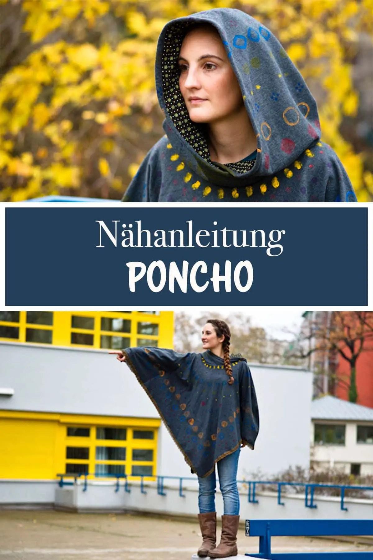 Kostenfreie Nähanleitung für einen Poncho