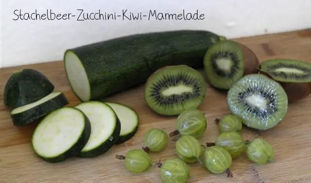 Stachelbeer-Marmelade mit Kiwi und Zucchini