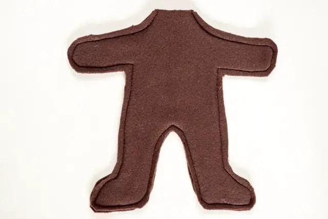 Einfaches Teddybär Schnittmuster - Körper nähen