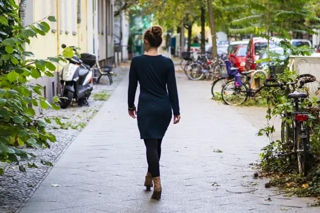 Jerseykleid genäht nach kostenlosem Schnittmuster Ladyrockers von mamahoch2