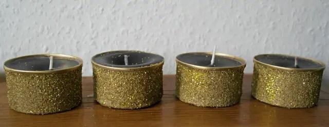 Kerzen selber machen - aus Kerzenresten und Glitzer