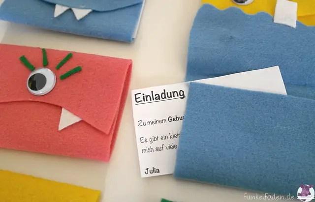 schnell gebastelt – monstermäßige einladungskarten › anleitungen, Einladungsentwurf