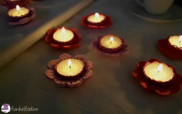 DIY - Blumenkerzen aus FIlz