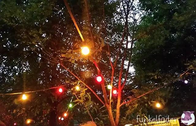 Lichterkette im Prinzessinengarten