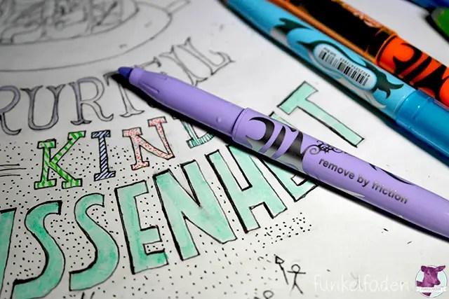 Handlettering mit bunten Stiften
