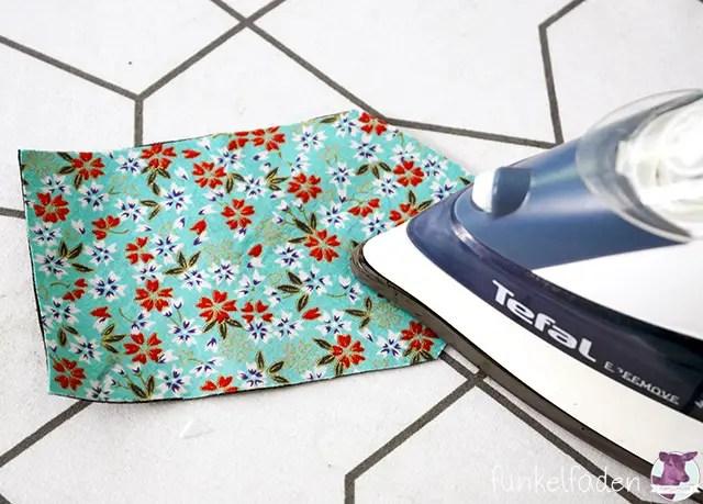 Anhänger für Reisetasche nähen - Bügelvlies aufbügeln