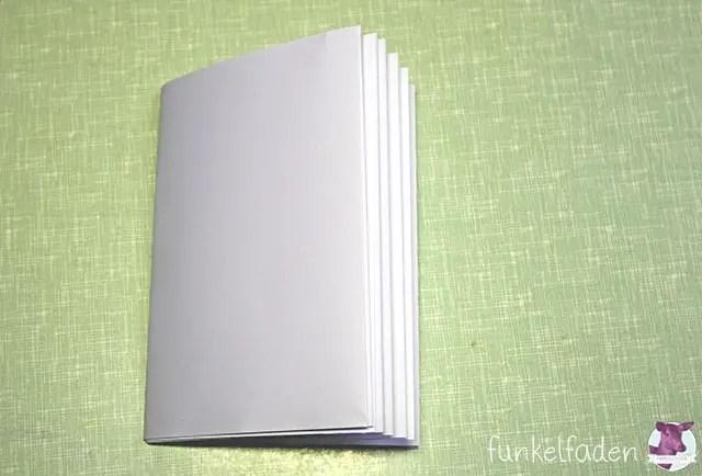 Kostenlose Bastelanleitung Notizbuch