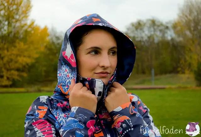Minoru Jacket - Regenjacke selber nähen mi Kapuze