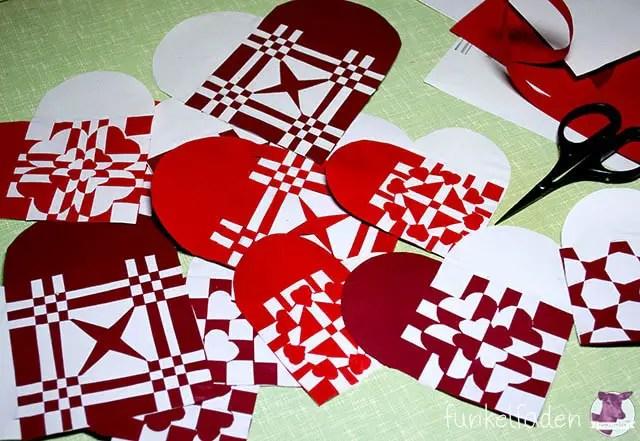 Dänische Weihnachtsherzen falten