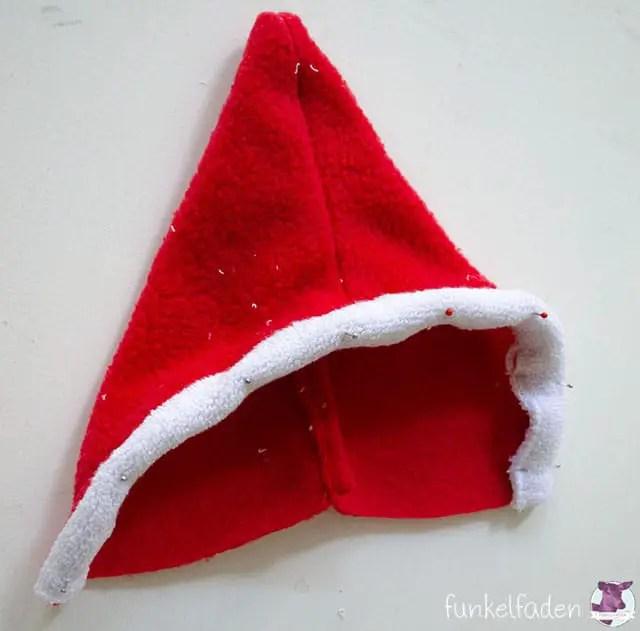 Gratis Schnittmuster und Nähanleitung Weihnachtsmann