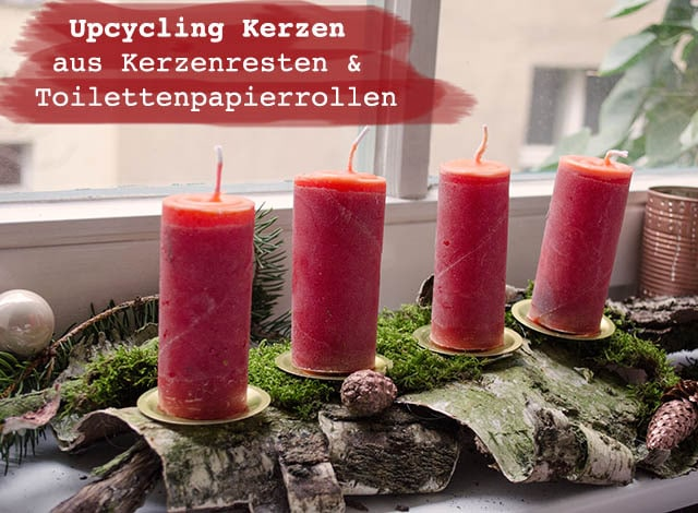 upcycling kerzen aus kerzenresten klorollen anleitungen do it yourself upcycling diy. Black Bedroom Furniture Sets. Home Design Ideas