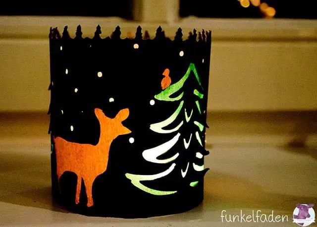 Bastelideen - Licht aus Papier für Weihnachten