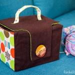 Genäht – Kleiner Koffer für mein Strickzeug
