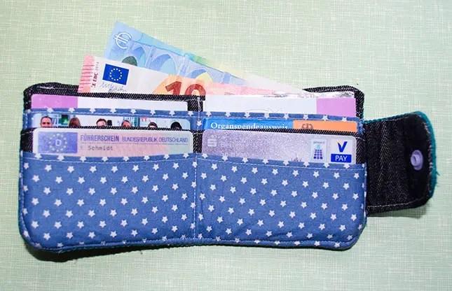 Gratis Nähanleitung Portemonnaie