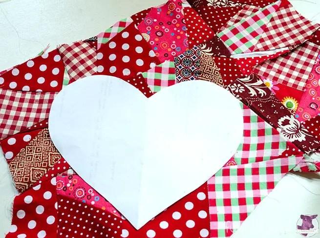 Herz Patchworken - Vorlage