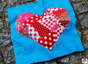 Anleitung - Patchworkdecke mit Herz