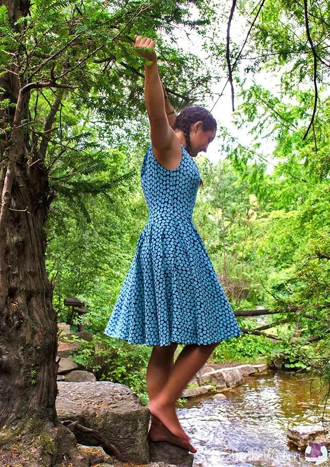 Genäht - Sommerkleid aus Jersey mit schwingendem Rock