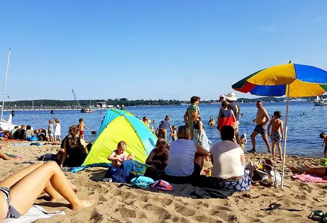 Strand an der Kieler Förde