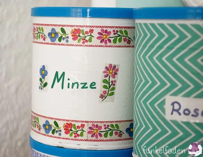 Dosen für Kräuter und Tee selber machen Upcycling