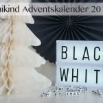 Das erste Türchen im Black & White Adventskalender