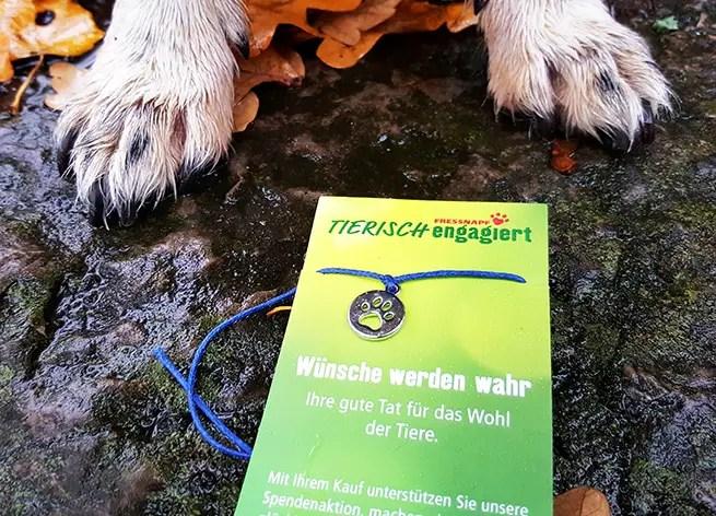 Fressnapf Tierisch engagiert - Armband kaufen und für Tiere spenden