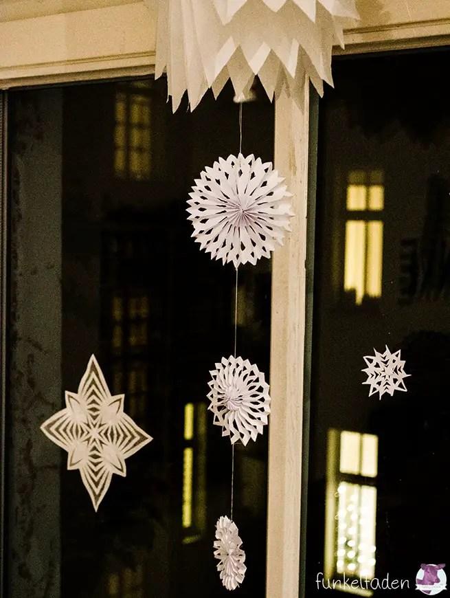 Anleitung - Sterne für Weihnachten basteln