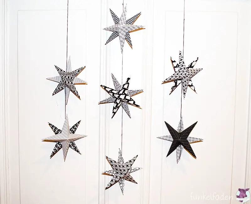 zum 4 advent ein paar sterne basteln anleitungen do it yourself weihnachtsaktion. Black Bedroom Furniture Sets. Home Design Ideas
