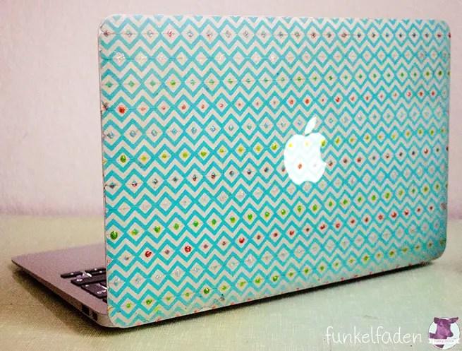 Laptop mit Masking Tape bekleben